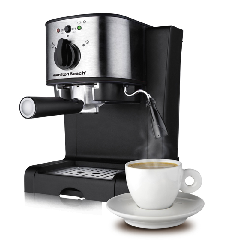 220V Espresso Coffee Machine 15 bar Italian Coffee Maker 1350W Automatic High-pressure Steam Milk Foam Machine 40791-CN automatic espresso coffee maker coffee machine high pressure steam espresso machine milk bubble machine