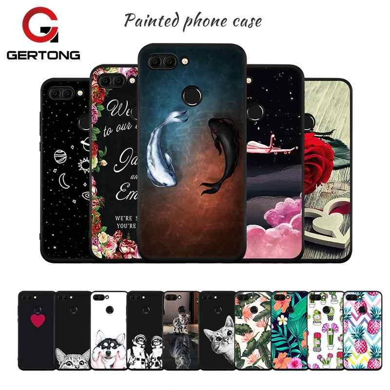 Black Matte Patten Case For Huawei Mate 10 Pro P20 Lite P10 Plus P8 P9 Lite Y9 2018 Soft TPU Cover Shell For Honor 8 9 Lite