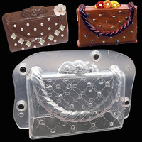 Big Size 3D DIY Handmade Cake Lady Bag Chocolate Mold Plastic Polycarbonate Bag Cake Decorating Tools