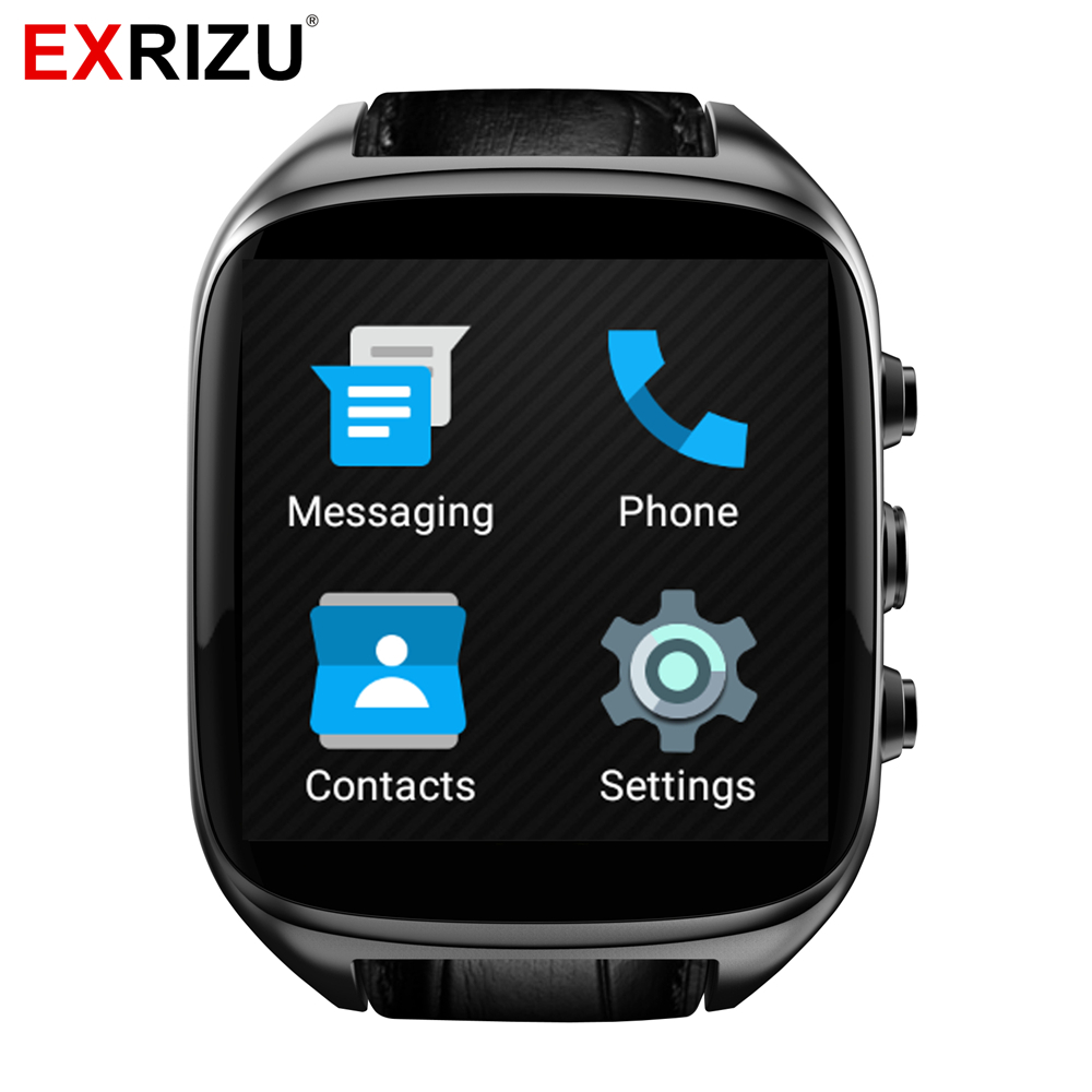 EXRIZU X01S Smart Watch MTK6572 Dual Core 1.3GHz Android 5.1 1.54inch 2.0MP Camera 3G SIM Smartwatch Phone GPS Gravity Pedometer smart baby watch q60s детские часы с gps голубые