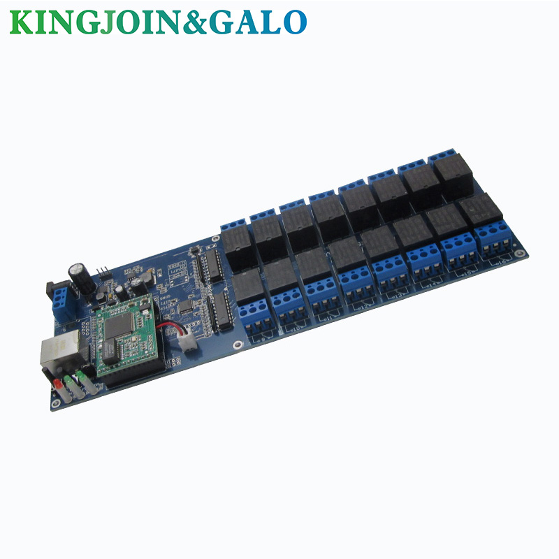 Industrial LAN WAN Ethernet Network 16 Channels Relay Board Controller Remote Control Switch Module RJ45 TCP/IP