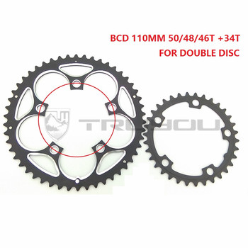 TRUYOUล้อโซ่BCD 110มิลลิเมตร50ครั้ง48ครั้ง46ครั้ง34ครั้งถนนจักรยานChainwheelจักรยานพับChainring Freewheel 5-9คู่ความเร็วเ...