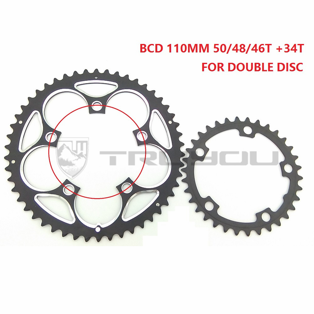 Truyou Chain Wheel Bcd 110mm 50t 48t 46t 34t Road Bicycle