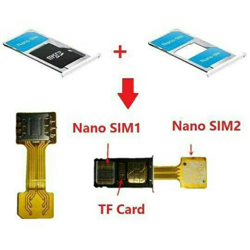 Hybrid Double Dual SIM Card Adapter Micro SD Nano SIM Extension Adapter For Android Cellphone XIAOMI REDMI NOTE 3 4 3s Prime pro