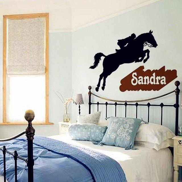Coole Kunden Familie Name Wandaufkleber Abnehmbare Vinyl Wasserdichte Decor  Leiter Der Pferde Wandtattoo Wohnzimmer Kunst Dekoration