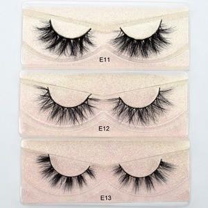 Image 2 - Visofree Eyelashes 3D Mink Lashes natural handmade  volume soft lashes long eyelash  extension real mink eyelash for makeup E01