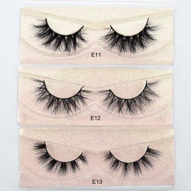 Visofree Eyelashes 3D Mink Lashes natural handmade  volume soft lashes long eyelash  extension real mink eyelash for makeup E01 1