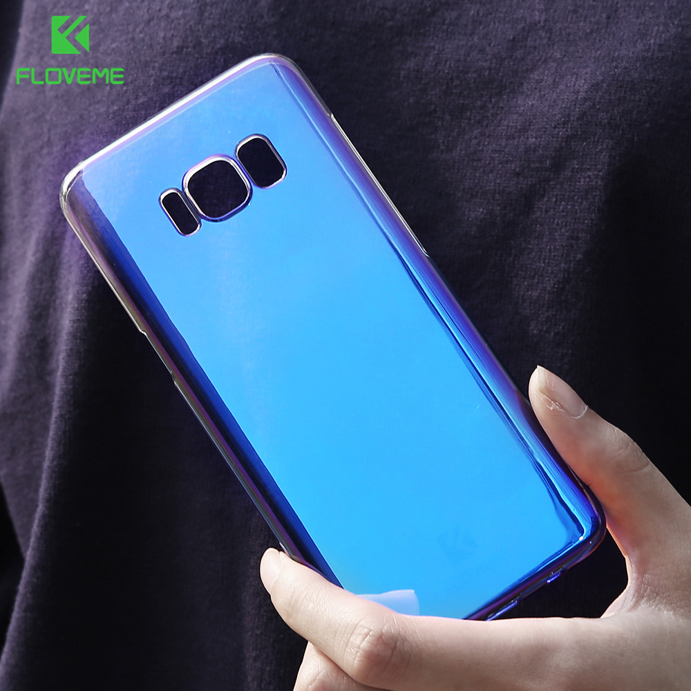 Online Shop Floveme Luxury Blue Light Ray Phone Case For Samsung Flip Wallet Cover Casing Galaxy S6 Edge Plus Bulk Pack Biru Note 8 2017 Ultra Thin Cool Hard Capa Aliexpress Mobile