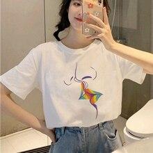 Harajuku T-Shirt Top-Tees Lesbian Gay Pride Female Korean-Style Women Ullzang Cartoon