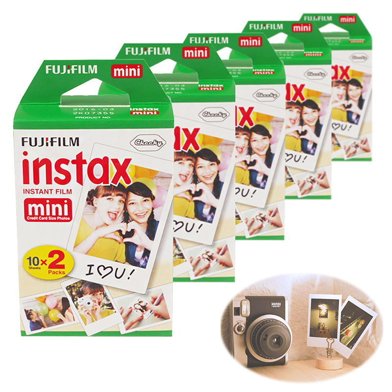 Original Fujifilm Instax Mini 8 9 film (100 sheets) for Camera Instant mini 7s 25 50s 90 Instax Mini Film White Edge 3 inch Film 5 packs fuji fujifilm instax mini instant film monochrome photo paper for mini 8 7s 7 50s 50i 90 25 dw share sp 1 cameras