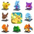 Dhl libre al por mayor 8 estilos 36 unids picacho charizard pocket monster eevee pokemon loz mini bloques de juguete ladrillos de juguete para regalo