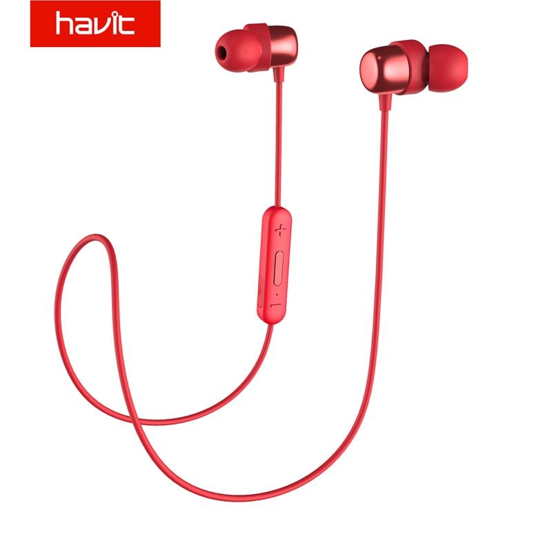 HAVIT Bluetooth Kopfhörer V4.2 IPX5 Sweatproof Sport Kopfhörer Wasserdicht Bluetooth Ohrhörer Stereo Kopfhörer mit Mikrofon I39