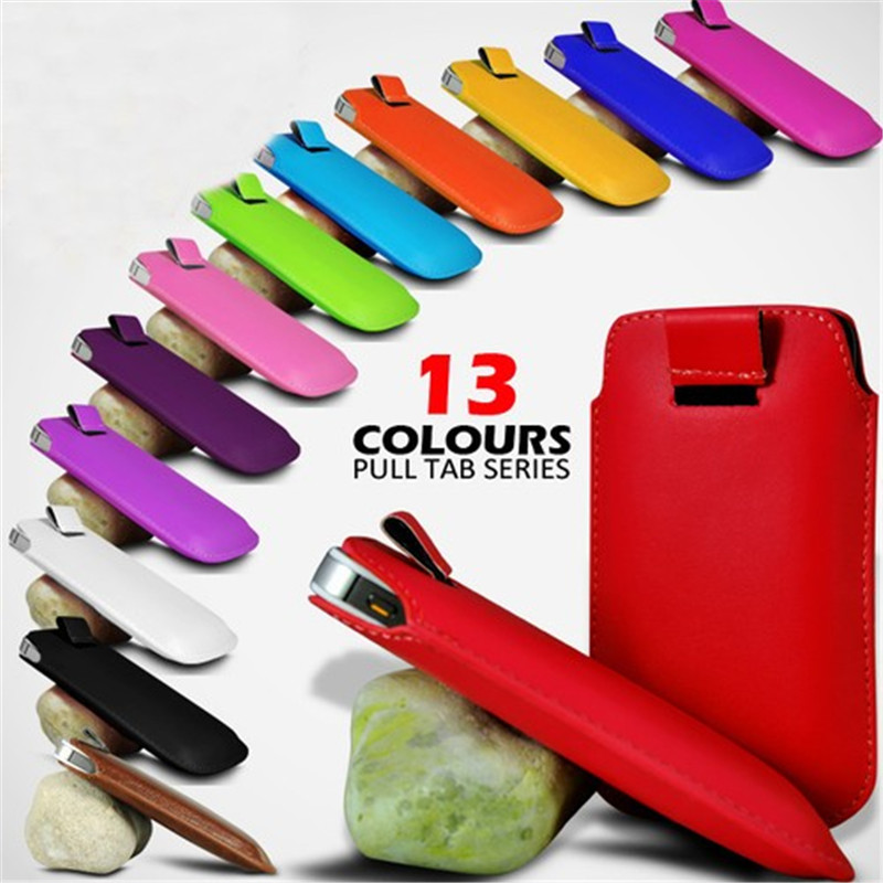 New Tab Push & Pull PU Leather Case For Apple iPhone 4 4s 5C 5S Xiaomi 2S Ultra Thin Pho ...