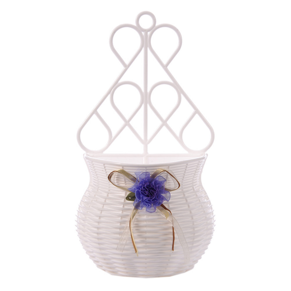 Flower Hanging Basket Vase Artificial Rattan Wall Hanging