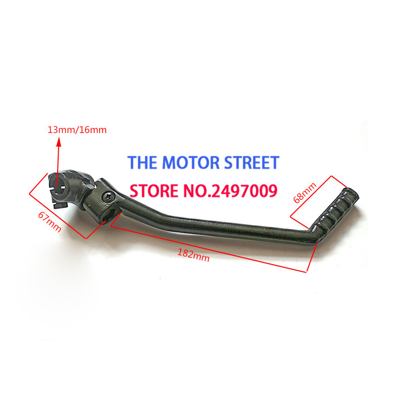 WOOSTAR Kick Start Pedal 13mm Shafter for for Chinese Mortorcycle 50cc 70cc 90cc 110cc 125cc Pit Dirt Bike Sliver