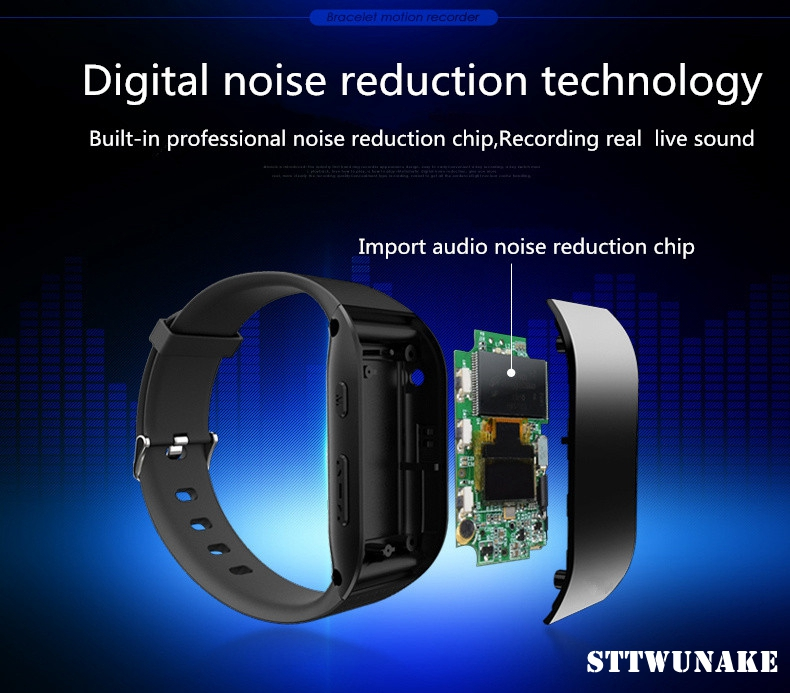 STTWUNAKE Audio Voice Recorder watch professional Digital HD Dictaphone Mini hidden bracelet denoise long distance HiFi Lossless-in Digital Voice Recorder from Consumer Electronics    3
