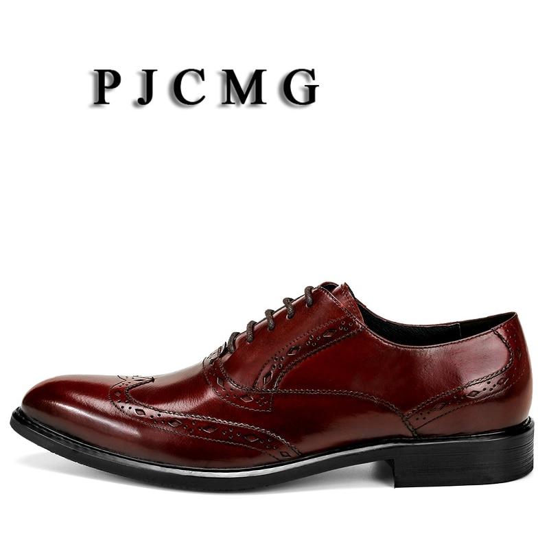up Formal Escritório Apontado Black Dedo Oxfords Vestido De Respirável Negócios Homens Preto Genuíno Esculpida vermelho Lace brown Sapatos Casamento Pjcmg Couro Novo ApqBwYq