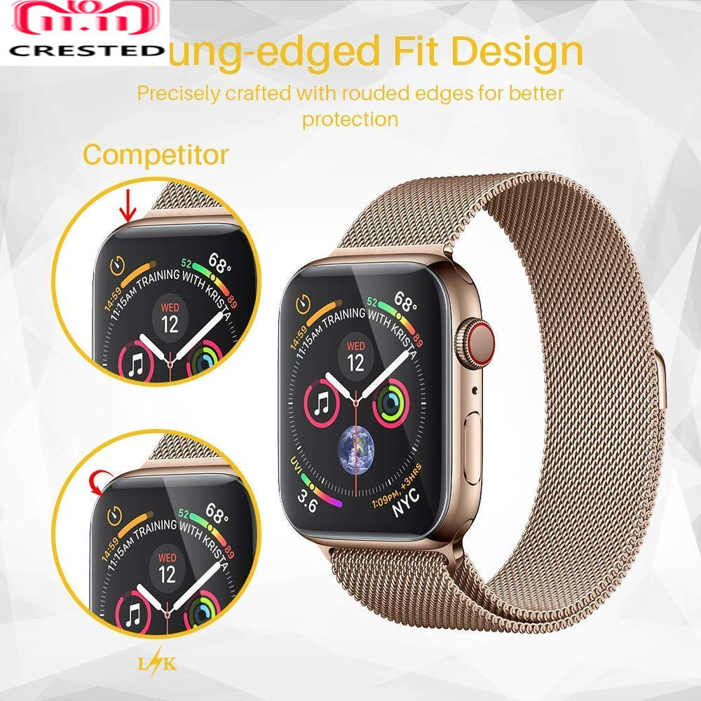 Screen Protector For Apple Watch Band Pulseira Apple Watch 4 3 5 44mm 40mm Iwatch Band Soft Cover 9D Protective Full Coverage