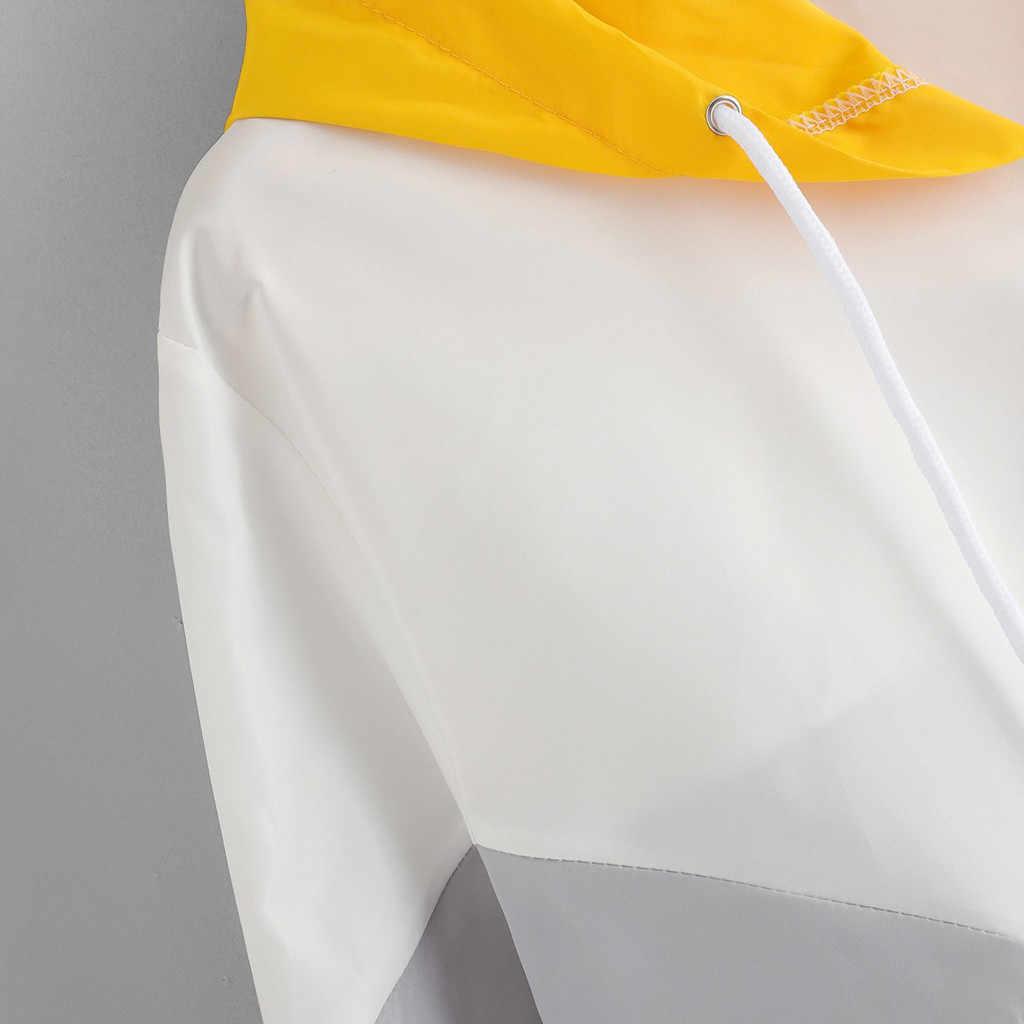 秋かわいいパーカーフード付き女性スポーツコート長袖パッチワーク巾着かわいいストリート原宿スウェット服