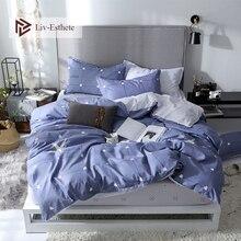 Liv-Esthete Fashion Sea Star Bedding Set High Quality Soft Duvet Cover Pillowcase Bed Linen Rubber Sheet Fitted Wholesale