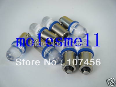 Free shipping 100pcs T10 T11 BA9S T4W 1895 3V blue Led Bulb Light for Lionel flyer Marx