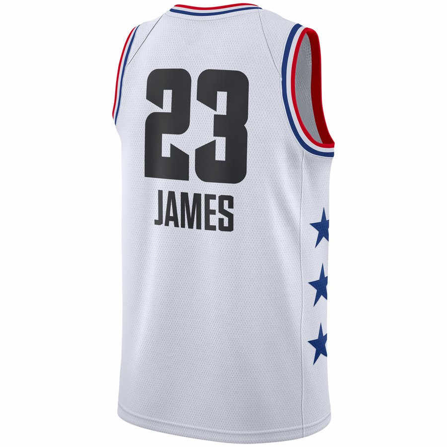 New 2019 All Star Games James George Durant Curry Harden Antetokounmpo  Leonard Embiid Irving Walker Jersey 993f67a0e