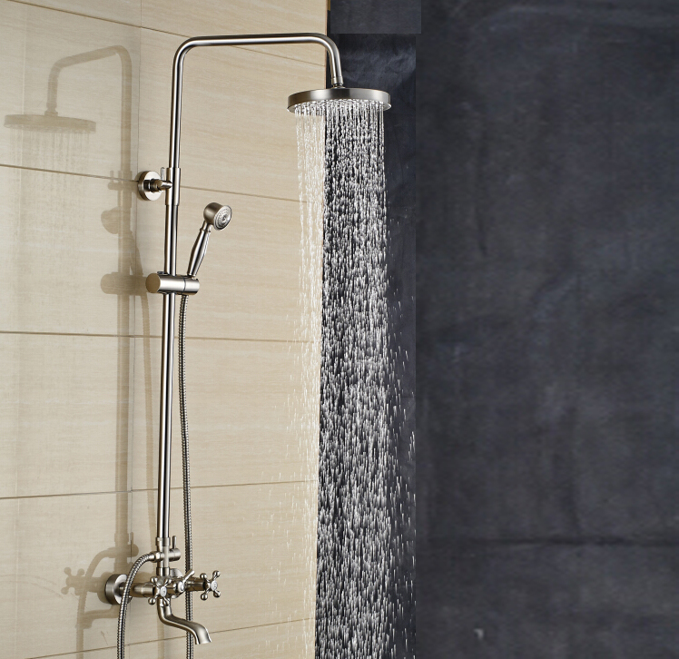 Buy Wall Mounted Brushed Nickel 8 Rain Shower Head Fau