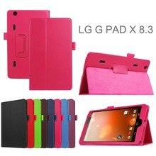 Защитная оболочка для lg g pad gpad x 8.3 планшетные случаи личи шаблон кожа pu case откидная крышка
