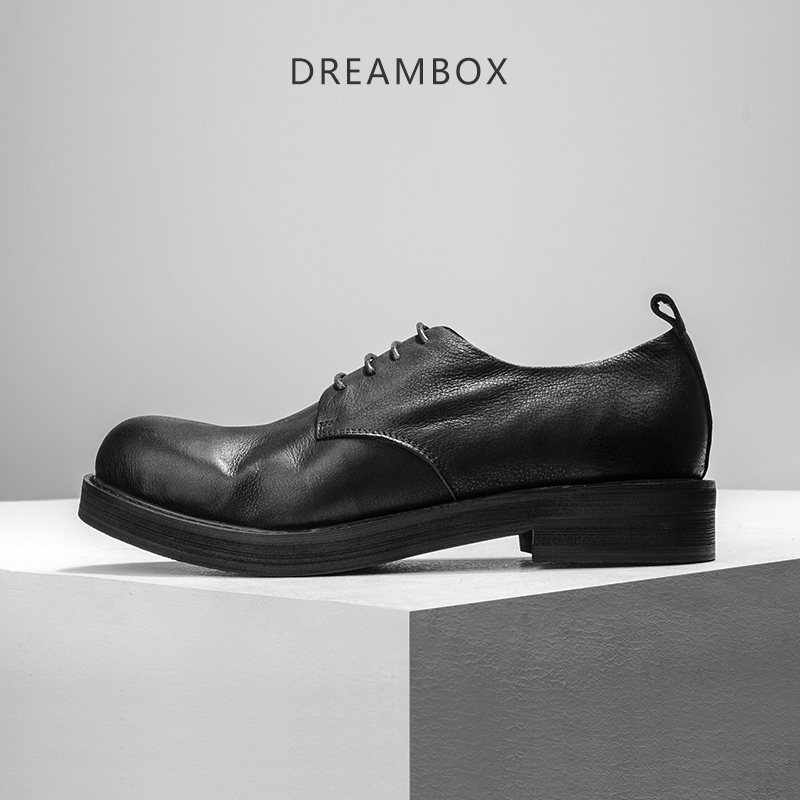 dreambox Men's leather shoes men's fashion fashion and bulk shoes casual shoes retro warped head dreambox 800 hd крайот