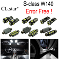 22pc X Error Free LED interior dome light lamp Kit package For Mercedes Benz S class W140 S320 S350 S420 S500 S600 (1994-1998)