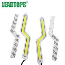 1SET Z Shape LED COB Daytime Running Lights Car Auto DRL Fog Light White 12V For ford focus bmw mazda opel toyota car CJ