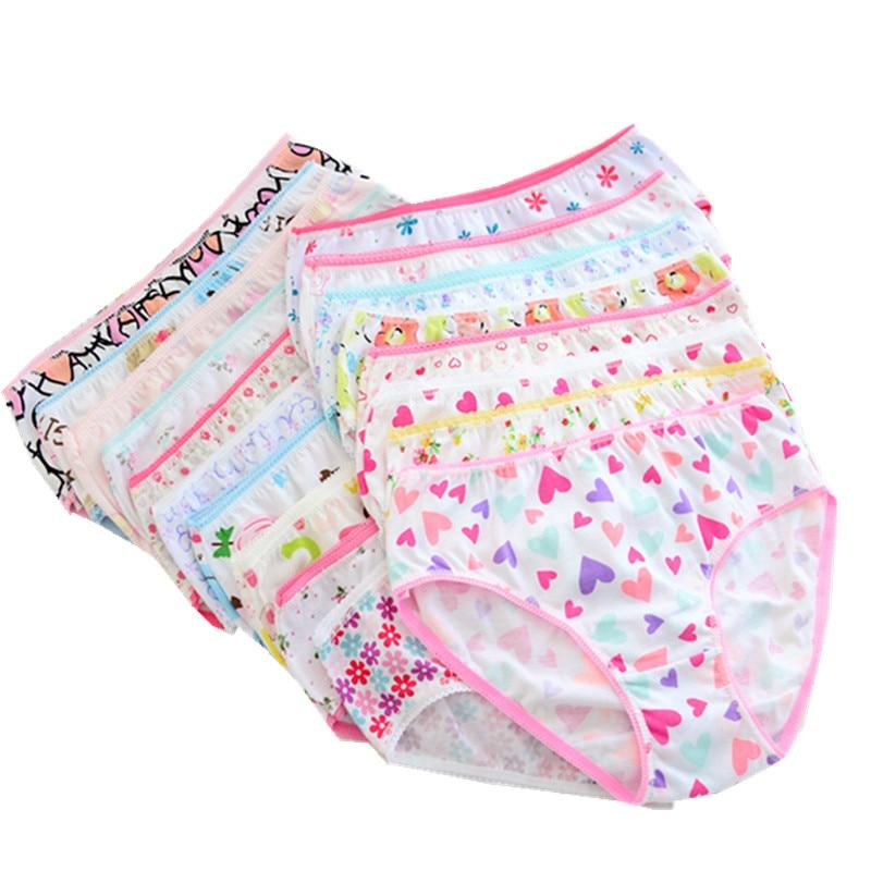 12pcs/Lot Girls Cotton Panties Girls Briefs Gifts Children Underwear Child Cartoon Briefs  Underpants 1-2Y GTNN0001