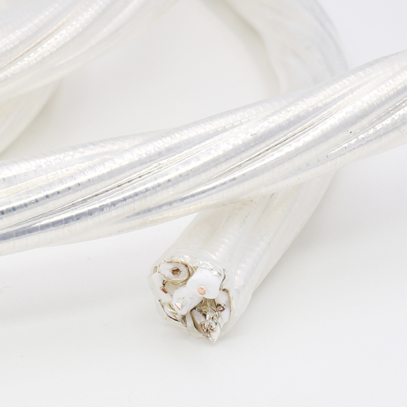 High Performance SPC001 Silver Female-Female Plated AC Power Cable Bulk Hifi Audio Power Wire For DIY все цены