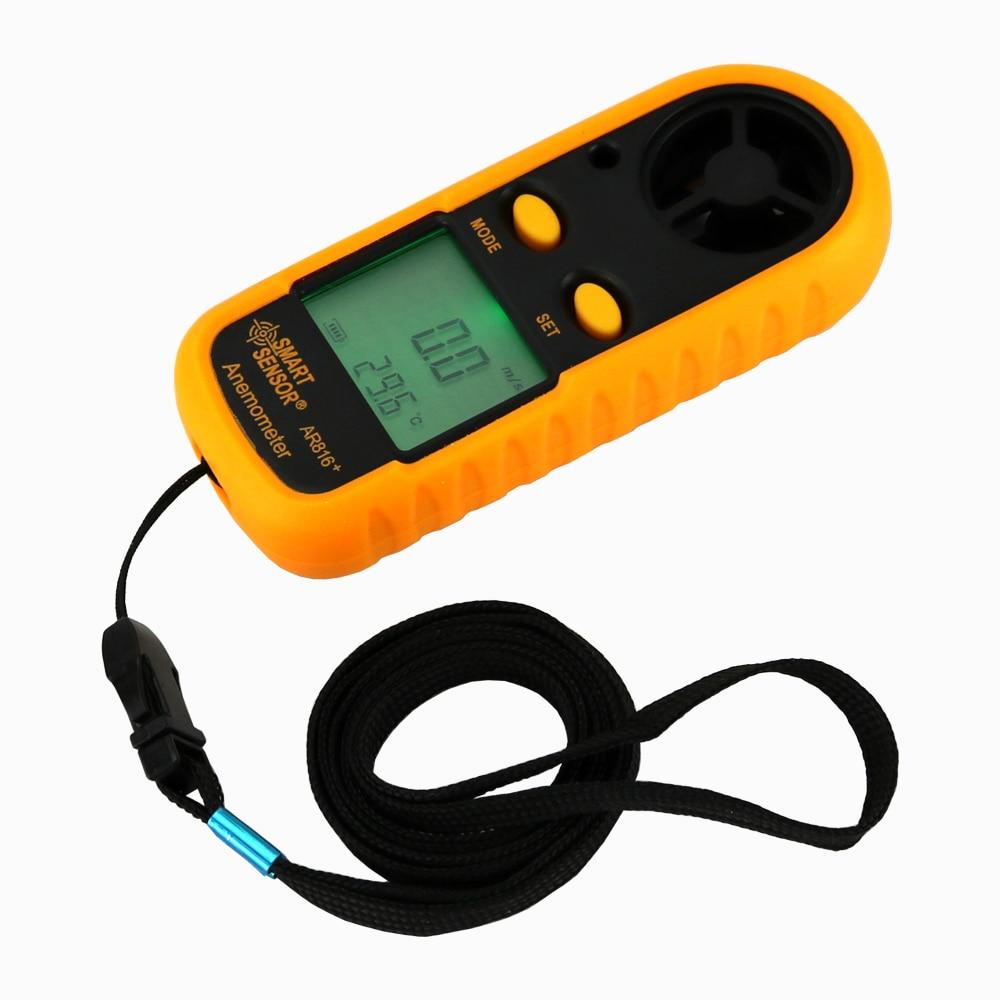 Medidor de velocidad de viento portátil Anemómetro Termómetro - Instrumentos de medición - foto 3