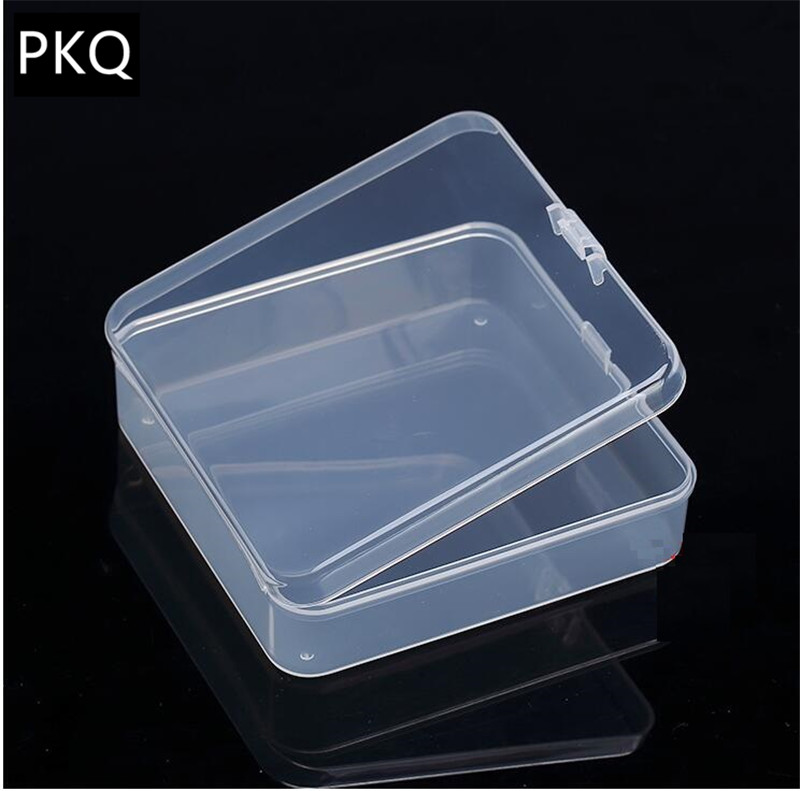 Square Plastic Box Clear Transpa Storage Beads Crafts Jewelry Display Small Item Collection Container Organizer In Bo Bins From