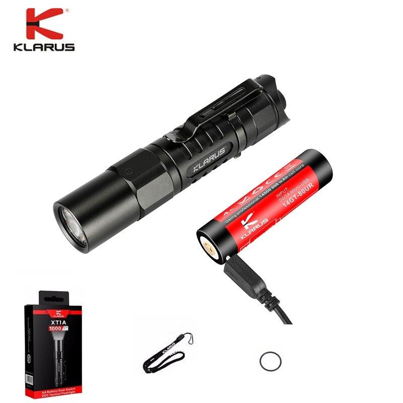 Klarus ST15R Cree XP-L HD V6 LED USB Rechargeable Tactical Flashlight Torch