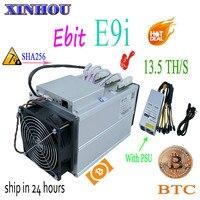 ใหม่ bitcoin miner Ebit E9i 13.5 T SHA256 Asic miner กับ PSU BTC BCH mining ดีกว่า E10 antminer S9 s11 S15 T15 B7 M10 M3x T3