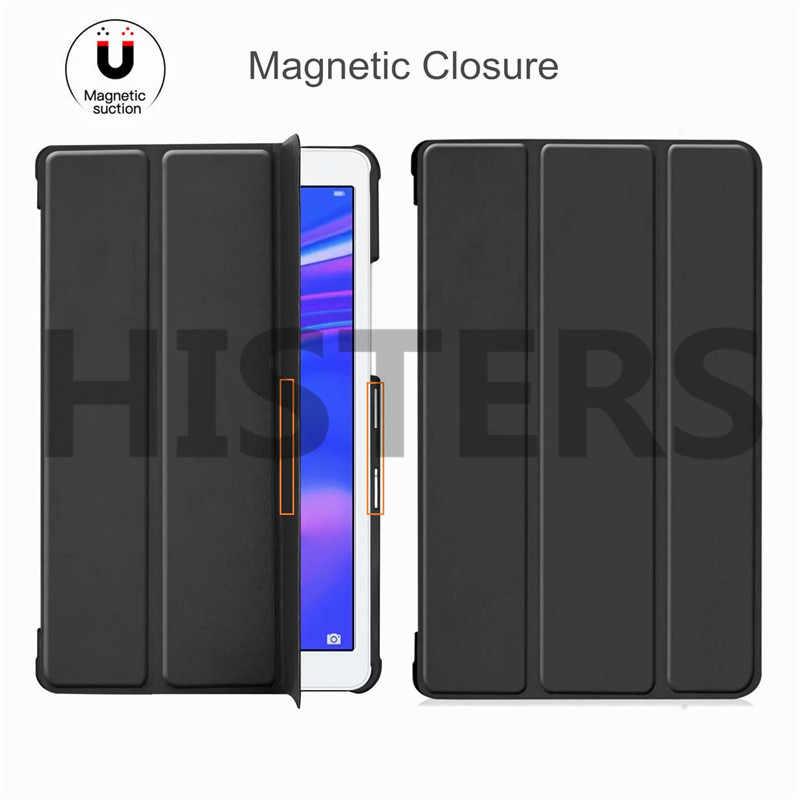 الذكية حافظة لهاتف Huawei MediaPad M3 لايت 10 BAH-W09 BAH-AL00 ضئيلة حامل قابل للطي غطاء لهواوي M3 لايت 10.1 بوصة اللوحي فوندا