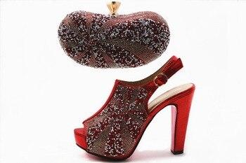 Rote Schleuderpumps | Shinning Neueste Deesign Rot Schuhe Und Tasche Einsehen Afrikanischen Aso Ebi Partei Sandalen Und Kupplungen Bag Freies Schiff SB8147-5