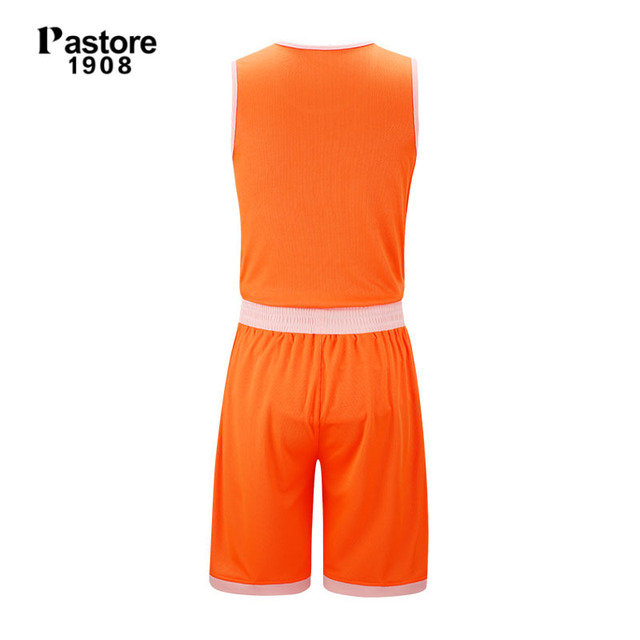 badd6604233 pastore1908 Basketball Jersey suit mens reversible jerseys breathable  running sports team sets solid blank custom jersey hot 229