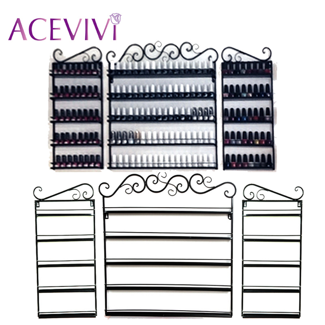 ACEVIVI 5 Layer 3 Pcs Set Lace Iron Nail Polish Shelf Display Wall ...
