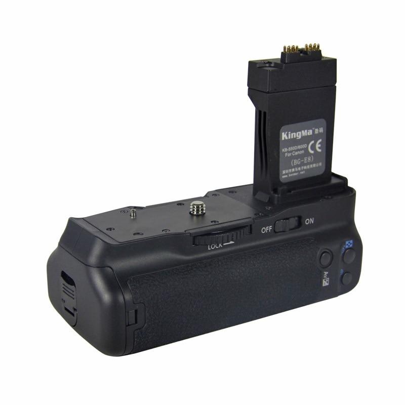 KingMa BG-E8 Professional Vertical Battery Grip Holder for Canon EOS 550D 600D 650D 700D DSLR Digital SLR Camera kingma bg e14 pro multi power 2 step vertical shutter battery grip holder for canon eos 70d dslr digital slr camera