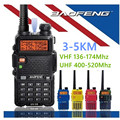 BaoFeng UV-5R walkie taklie transceiver 5W VHF UHF Dual Band 136-174/400-520MHz two way radio UV5R comunicador+USB program cable