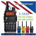 Baofeng uv-5r walkie taklie transceptor 5 w vhf uhf dual band 136-174/400-520 mhz rádio em dois sentidos comunicador de rádio baofeng uv 5r