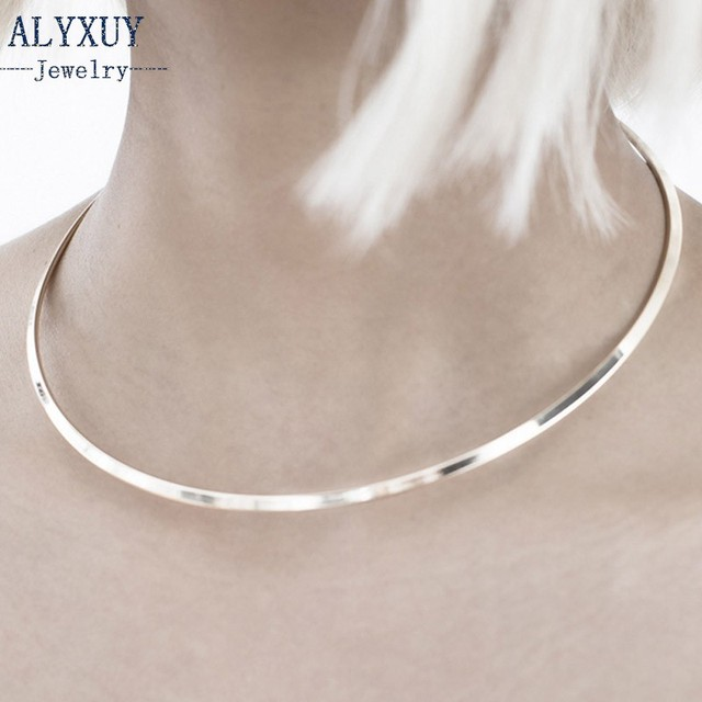 New fashion jewelry simple metal torques collar necklace gift for women girl N17