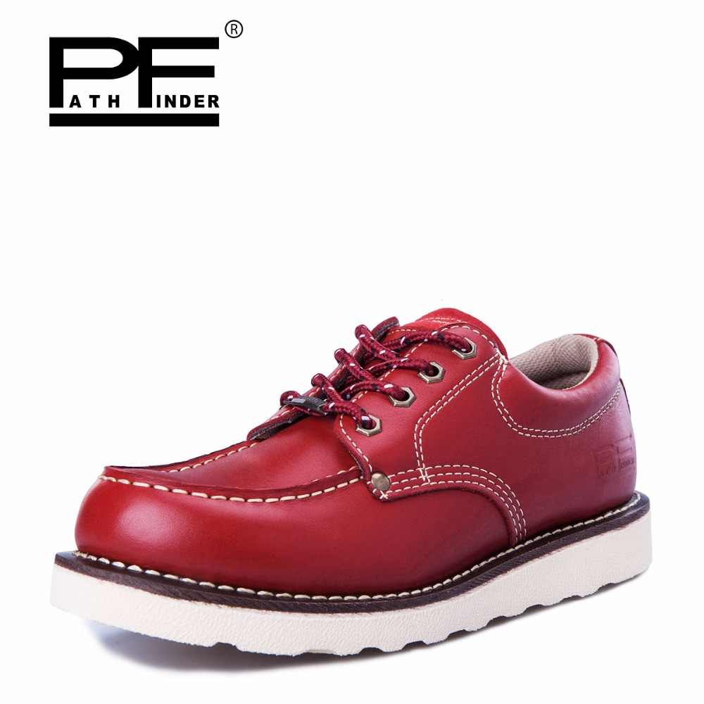 Pathfind Mens ankle boots de Couro genuíno 2019 botas de neve de Ferramentas de segurança Botas militares Homens sapatos Ao Ar Livre Sapatos da moda 2018 Retro marrom - 3