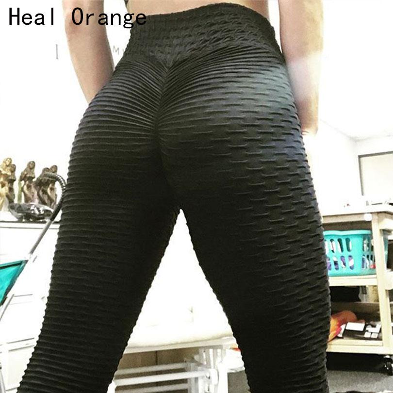 2018 Nouveautés De Yoga Pantalon Femmes Ruché Butt Leggings Push Haute Taille Workout Sport En Cours D'exécution Pantalon Femmes Gym Pantalon