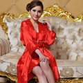 (1Set/Lot) Women's silk dress, Robes Silk Sleepwear, 1 Set (1PC Camisoles+1PC nightgown) Plus Size M/L/XL/2L/3XL, In stock
