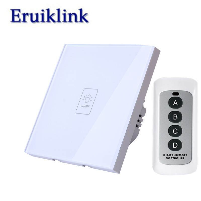 EU/UK estándar 1/2/3 Gang RF433 Control remoto táctil interruptor de pared, interruptores de Control remoto inalámbrico de casa inteligente + LED backlight