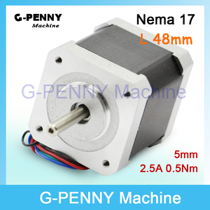 Free sale! NEMA17 CNC stepper motor 42 x 48mm 0.50 N.m cnc stepping motor 2.5A 71 Oz-in for sale for CNC & 3D printer